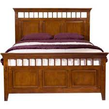 Brown Wood Bed Frame Brown Beds Headboards Bedroom Furniture The Home Depot