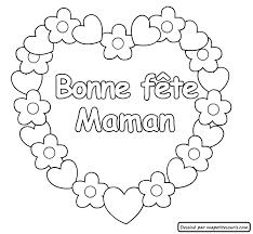 Coloriage Coeur Fete Des Meres New Coloriage Fete Des Meres  Best