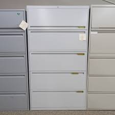 Used 5 Drawer Lateral File Cabinet Used Allsteel 5 Drawer Lateral File Cabinet Gray Fil1449 011
