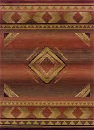 Western Style Area Rugs Tribal Copper 1506c Southwest Style Rug Warm Copper Desert Tones