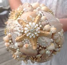 wedding bouquets with seashells starfish bouquet gold seashell bouquet wedding nautical