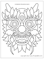 chinese dragon mask printable templates u0026 coloring pages
