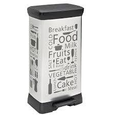 poubelle cuisine a pedale 50 litres curver poubelle à pédale rectangulaire 50 litres décor kitchen