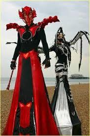 Stilt Costumes Halloween Luminous Stilt Costume Www Streets United Stilts