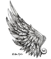 open wing pencil and in color open wing