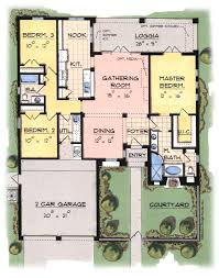 plan 2 1684 spanish style home with a living s f of 1684 2500