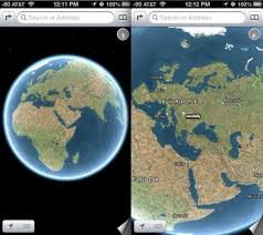 maps for globe turn ios maps into a globe by zooming out
