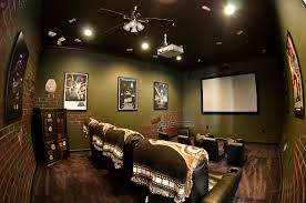 glamorous home movie theater rooms with pink yellow wall accent chic home movie theater