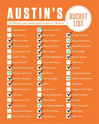 Texas travel checklist images Austin 39 s bucket list checklist all the things you must experience jpg