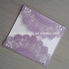Lavender Wedding Invitations Personalized Printing Elegant Doily Laser Cut Purple Wedding