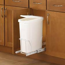 Kitchen Trash Cabinet Pull Out White Pull Out Trash Cans Kitchen Cabinet Organizers The