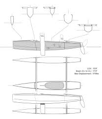 plans for a true small trimaran at chesapeake light craft small