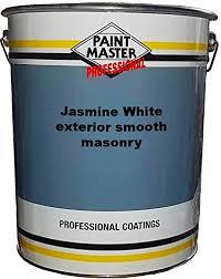 paintmaster smooth heavy duty masonry paint 20l jasmine white
