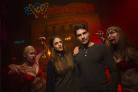 eiza gonzalez d j cotrona visit universal u0027s halloween horror