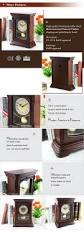 lucky gift wooden table clock silent quartz clock wholesale good price
