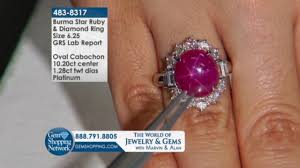 pink star diamond ring six leg star burma ruby gem shopping network youtube
