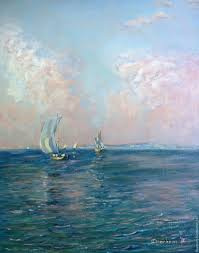Painting Boat Interior Buy Oil Painting Seascape On Livemaster Online Shop