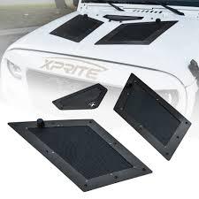 jeep hood vents xprite black cobra hood vents louver for 07 17 jeep wrangler jk