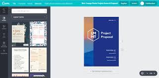 cara membuat proposal ide buat desain proposal kunjungan rinci secara kreatif canva