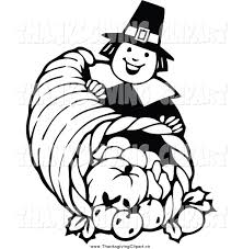thanksgiving black and white clipart free best