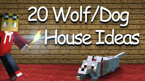 home design story dog bone 20 wolf dog house kennel designs ideas minecraft youtube