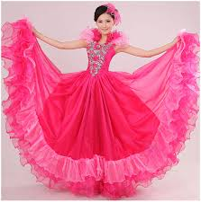 buy wholesale modern dance costume flamenco dress green