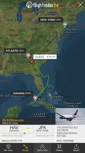 Jfk Terminal Map Delta Flight Dl620 From Havana To New York Jfk And Caribbean