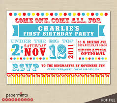 circus birthday party invitations u2013 gangcraft net