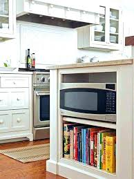 kitchen island with microwave kitchen island shelf ideas kitchen island bookcase microwave oven