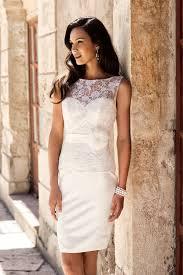 brautkleider standesamtliche hochzeit kurzes brautkleid crusz wedding dresses