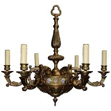 Maurice Chandelier Antique Chandelier Bronze With Porcelain Plaques For Sale At 1stdibs