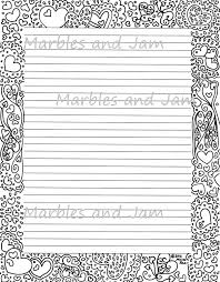 border writing paper hearts border lined printable stationery and coloring page zoom