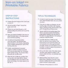 matilda u0027s own iron on inkjet printable fabric sheets u003cbr u003ea4 size