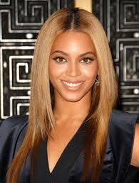 beyonce with middle part hair popular long hairstyle idea