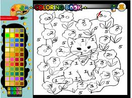color by number coloring pages color by number cat coloring