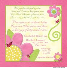 2nd baby shower pink ladybug flowers shower invitation tiddliwink baby