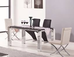 2303 modern stainless steel and marble dining table