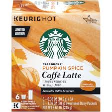 Decaf Pumpkin Spice Latte K Cups by Starbucks Pumpkin Spice Caffè Latte K Cup Pods U0026 Flavor Packets