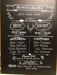 Chalkboard Wedding Program Wedding Program Chalkboard Google Search Wedding Ceremony