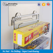 Wrapping Paper Wall Mount Aliexpress Com Buy Wall Mounted Wrap Holder Kitchen Rack Chromed