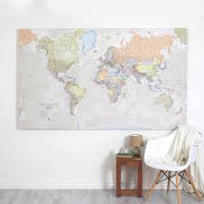 Madagascar On World Map by Giant Canvas World Map By Maps International Notonthehighstreet Com