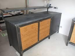 meuble cuisine zinc meuble cuisine zinc inspirations et meuble cuisine bois et zinc des