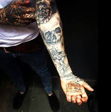 Skull Arm - skull arm tattoos arm and