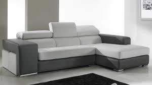 canapé cuir et microfibre canapé d angle en cuir noir et blanc pas cher canapé angle design
