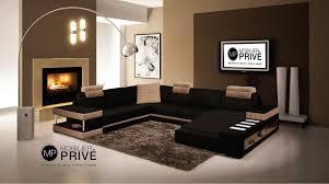 mobilier de canapé d angle canapé d angle miro en cuir haut de gamme italien 7 8 places noir et