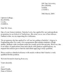College Letter Of Recommendation From How To Write A Letter Of Recommendation For Highschool Student