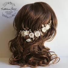 wedding flower hair stacey floral hairpiece bridal wedding flower hair accessory