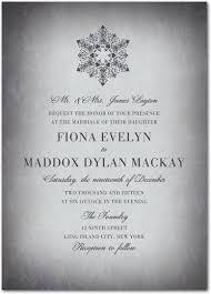Snowflake Wedding Invitations Winter Snowflake Wedding Invitations Mid South Bride