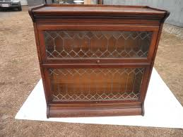 antique gunn leaded 2 sectional oak barrister bookcase hampshire