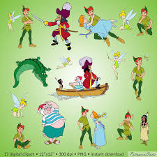peter pan characters free svg files fonts